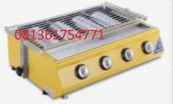 BBQ 4 Bunner atau cover bunner with glass