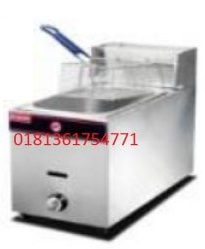 Gas Deep Fryer 1 basket ,kaps 6 liter without thermostat