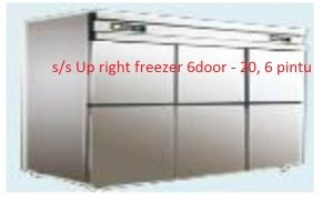 Stainless Steel Up right freezer  6 pintu, alat dapur