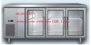 Under Counter chiller Glass 2100  Pintu 3, alat dapur